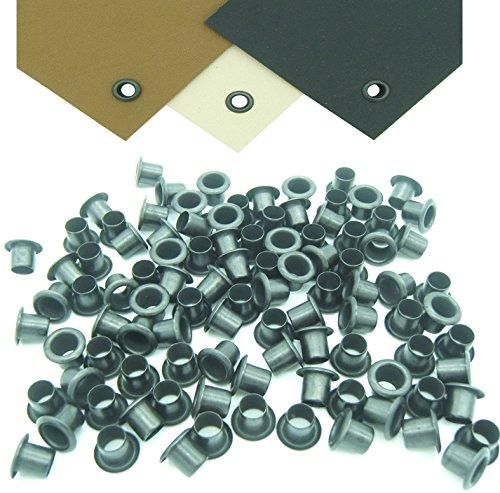 "Mil-Spec Kydex Eyelets GS 8-8, Brass Black Oxide 1/4"" DIY Gun Holster Knife Sheath Grommets (100)"