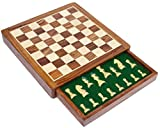 Solid hardwood chess set - handmade in one of the most beautiful natural grain hard woods - Indian wood The chess set is magnetic so the chessman stay rooted to the chess board unless you make a move... you can make your game last for days The chessm...