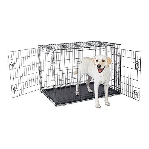 Petco Premium 2-Door Dog Crate, 42' L x 28' W x 30' H, X-Large, Black