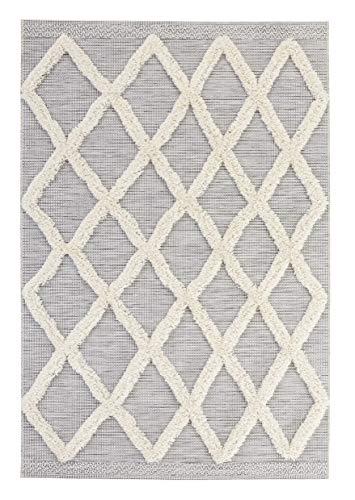 Mint Rugs In- und Outdoor Vintage Handira Teppich Ayoun Creme Grau, 115x170 cm