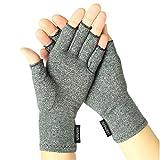 Vive Arthritis Gloves - Compression Glove for Rheumatoid, Osteoarthritis - Heat Hand Gloves for Computer Typing, Arthritic Joint Pain Relief, Carpal Tunnel - Men, Women - Open Finger Thumb (Medium)