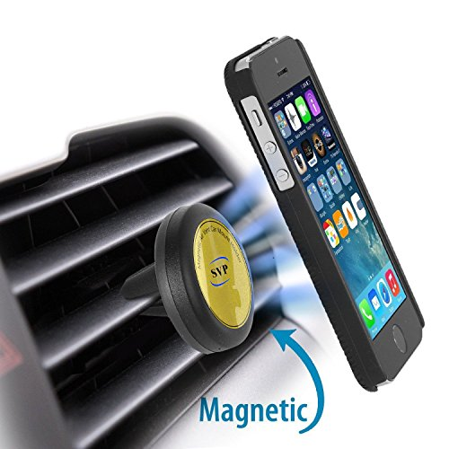 SVP Magnetic Car Mount, Universal Air Vent Cell Phone Holder for Smartphone, Truck - Easy to Use - Safely View Your Mobile Phone