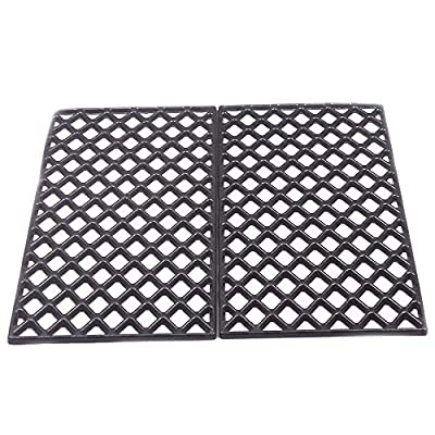 Unifit 19.4 Inch Diamond Pattern Porcelain Enamel Coated Cast Iron Sear Grate Grid Cooking Replacement Parts for Traeger and Pit Boss Pellet Grills (2 PC for Pit Boss PB700 Series)