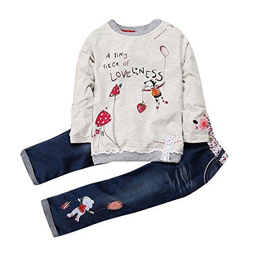 Conjunto de Ropa Niña Otoño Invierno, Fossen 1-5 años Bebe Camisetas Estampados...
