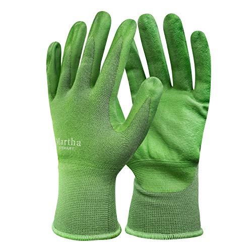 Martha Stewart MTS-GLVNP1-M Nitrile Coated All-Purpose Garden Gloves w/Non-Slip Grip, Medium