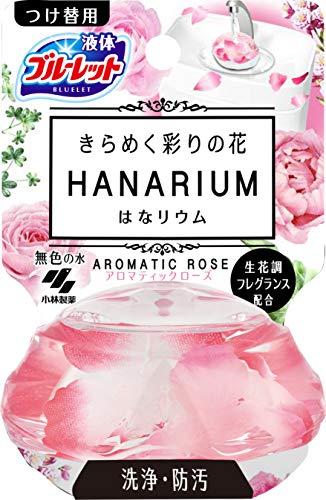 液体ブルーレットおくだけ きらめく彩りの花 はなリウム トイレタンク芳香洗浄剤 詰め替え用 アロマティックローズの香り 70ml