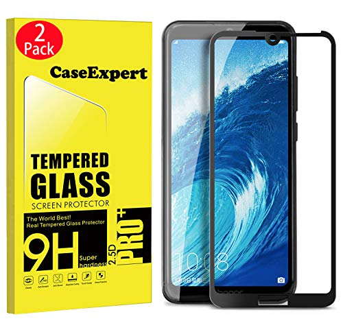 CaseExpert 2 Pack – Honor 8A / Y6 Pro 2019 Protector de Pantalla, Transparente Cristal 9H Cristal…