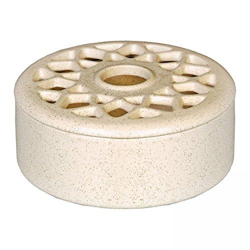 Luftbefeuchter Luftreiniger aus Keramik - verschiedene Farben - Höhe 6,8 cm (Beige)