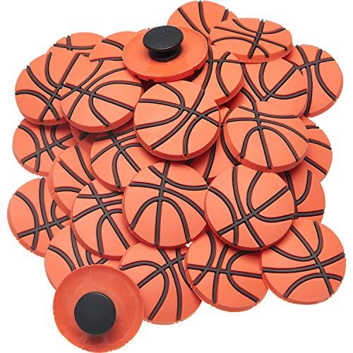 WILLBOND 36 Stück Kinderschuh Charms Volleyball Basketball Sport Ball Charms (Basketball)