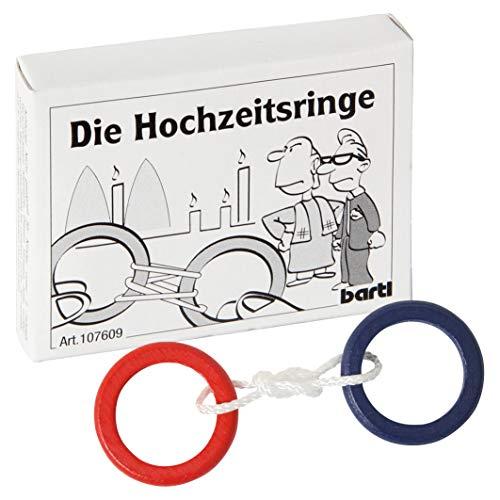 Bartl 107609 Mini-Holz-Puzzle Die Hochzeitsringe aus 3 Teilen