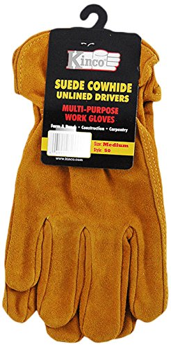 Kinco Gloves Unlined Split Cowhide Leather Driver 50M