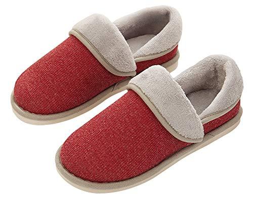YOOEEN Zapatillas de Estar por Casa para Mujer Invierno Ligero Suave Zapatos de Algodón Comodo Transpirable Pantuflas Interior Memoria Espuma Talla 34-44