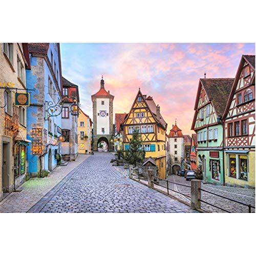 Puzzel Voor Volwassenen, 1000 Stukjes, Rothenburg, Volwassen Houten Puzzel Creatieve Decompressie Kinderspeelgoed Woondecoratie Schilderij -P4.20