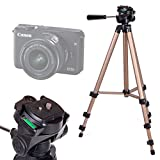 DURAGADGET Trípode con Nivel De Burbuja para Cámara Evil Canon EOS M10   Panasonic Lumix GX7   Nikon 1 J5   Sony NEX-3NLB   Olympus Pen E-PL6   Sony Alpha A6300 - Profesional