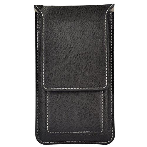 Premium Kartenhalter Gürtelclip Holster Hülle Tasche Fit Für iPhone 8Plus/Samsung Galaxy S9Plus/S8/J6/A6/J8/LG G7/G7thinq/LG V30/LG Stylo 4/LG V35thinq, Schwarz
