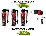 MVTEK Consegna 24 Ore - 3 x Fast CO2 (GONFIA E RIPARA) + Supporto Chiusura a Strappo per B...