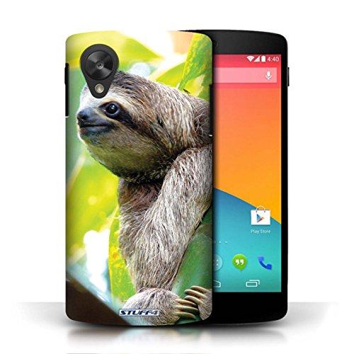 Hülle Für LG Google Nexus 5/D821 Wilde Tiere Faultier Design Transparent Ultra Dünn Klar Hart Schutz Handyhülle Case