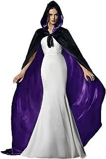 Halloween Capes Red Cloak Hooded Cloak Black Cape Witch Cloak for Men