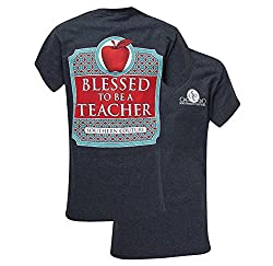 Southern Couture Womens Blessed To Be A Teacher T-Shirt