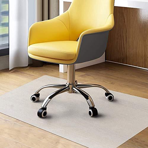 WASJOYE - Alfombrilla para silla de oficina para suelos duros, tamaño grande, 91 x 122 cm, protector de suelo de PVC transparente para el hogar, la oficina, el estudio, suelos de madera