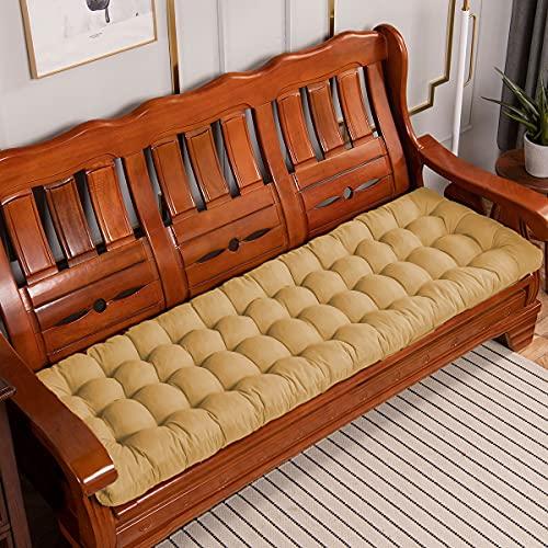 Xpnit - Cuscino per panca da giardino, 2 3 posti, per interni ed esterni, per sedie a sdraio, per patio, altalena, rattan, sedia sospesa (100 x 40 cm, beige)