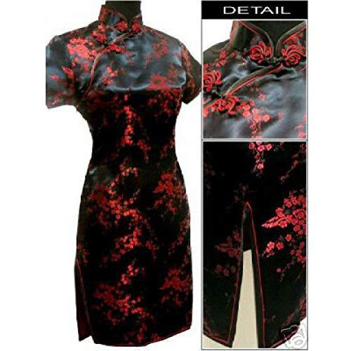 MEILINVREN Kleider, Mode Elegante Schwarz-Rot Die Chinesischen Frauen Cheongsam Mujeres Vestido Neue Sommer Mini Qipao Drees