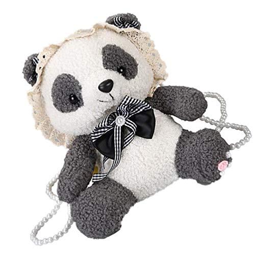 PRETYZOOM Monedero de peluche para niña con diseño de panda