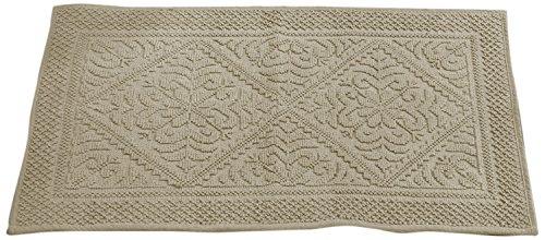 Bessere Trends/Pfanne Overseas Provence Jaquard Bad Teppich, beige, 53,3x 86,4cm