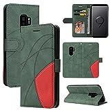 Shell mobile Pour Samsung Galaxy S9 Plus Coffret de portefeuille en cuir, porte-à-bas de carte Flip...