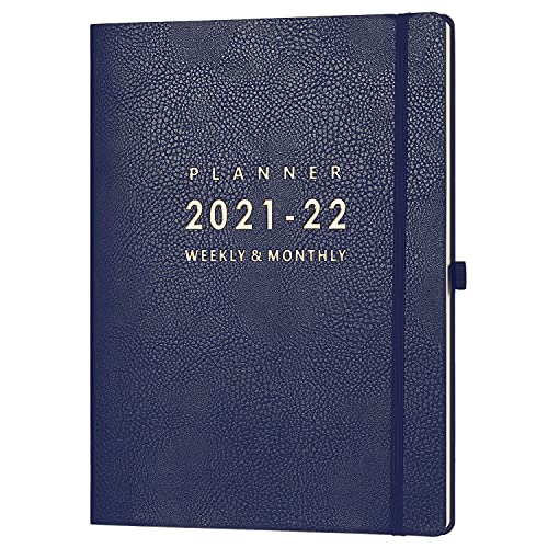 2021-2022 Planner - Weekly & Monthly Planner, July 2021 - June 2022, 8.5' x 11', Pen Holder & Calendar Stickers, Inner Pocket with 24 Notes Pages, A4 Premium Thicker Paper