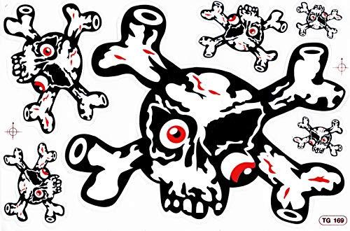 DD Schedel Skull Bones bot piraat sticker sticker folie 1 vel 270 mm x 180 mm weerbestendig