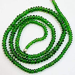Jewel Beads 50% Off Natural gem Stone Chrome Diopside Smooth Beads Complete Necklace top Quality 18 inches 3 to 4 mm Code-AUR-60572