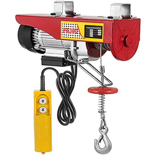 Mophorn Polipasto Electrico Elevador Eléctrico 300kg Montacargas Eléctrico para Garage y Levantar Herramientos Pesados 12m   40ft