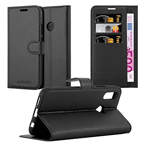 Cadorabo Funda Libro para Huawei P20 Lite en Negro Fantasma - Cubierta Proteccíon con Cierre Magnético, Tarjetero y Función de Suporte - Etui Case Cover Carcasa