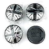 Tapas Para Llantas Cubierta central de ruedas de 54 mm Compatible con Mini Cooper S Clubman Coupe R50 R53 R56 R60 F56 John Cooper Works British Flag Hub Caps Decoration Tapas de cubo de rueda