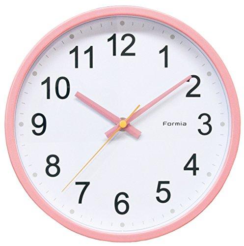 FORMIA 掛け時計 アナログ 連続秒針 ピンク HWC-003PK
