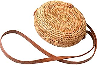 fashion Lady Crossbody Bags pastoralism style bag retro literary hand-woven rattan handbags shoulder bags