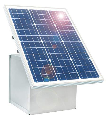 Eider 50W Solarsystem Transportbox für 12 V Geräte, Batteriefach abschließbar - ökologischer Strom durch die Kraft der Sonne - 50-Watt-Solarmodul mit hohem Wirkungsgrad