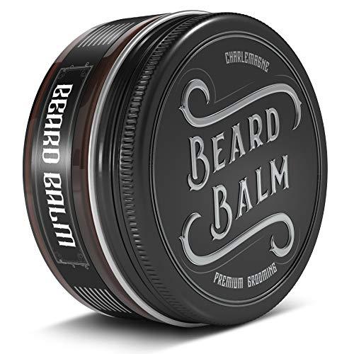 TESTSIEGER 1,1 - Charlemagne Beard Balm - 100% natürliches Bartbalsam Männer - Bartcreme Bart Balsam für die tägliche Bartpflege und Bart Styling - Bartpomade Bartwichse Bart Pomade Bartwachs Bart Wax