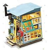 Rolife Maison De Poupée Miniature avec Kit De Meubles Maison De Bricolage en Bois avec lumières 3D Craft Modèle-Meilleur Jouets pour Filles Et Garçons-Top Cadeaux pour Adultes(Wooden Hut)