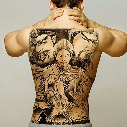 2pcs Homme de Tatouage imperméable Grand Tatouage Dos 2pcs-12