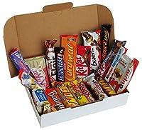 Assortiment de Barre au chocolat avec 20 barres de chocolat différents dans un emballage individuel assortiment avec Ferrero, Nestlé, Mars, Milka, Snickers, KitKat, Lion, Kinder Maxi, duplo, KitKat Chunky, Lila Pause, Hanuta etc. parfait pour anniver...