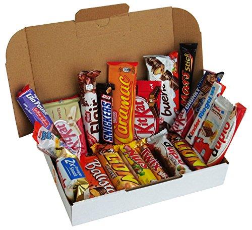 CAPTAIN PLAY | Snack Box mit verschiedenen Schokoriegeln | 20-teilig