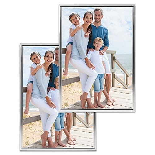 AGRYMER Cornice per Foto Cornice per Foto in Alluminio da Parete 21x29.7cm (a4) Cornice per Certificato Cornice per Licenza Aziendale (Nero/Argento/Oro)