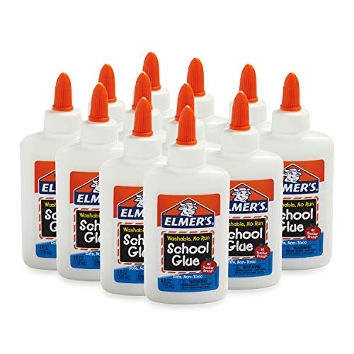 12 Count Elmer's Liquid School Glue, Washable, 4 Ounces Each $6.00 (78% OFF)