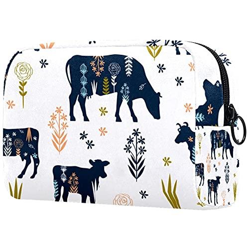 Neceser de viaje, bolsa de viaje impermeable, bolsa de aseo para mujeres y niñas (823) 18,5 x 7,5 x 13 cm