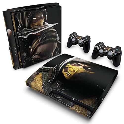 Skin Adesivo para PS3 Slim - Mortal Kombat X Scorpion