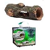 wqeew Adorno de Acuario Hueco Tronco simulación árbol Tronco Madera polirresina Paisaje Tanque de Peces decoración