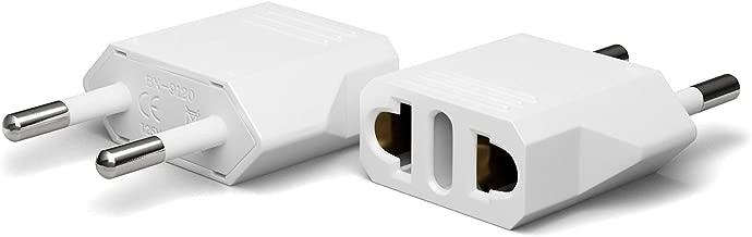Unidapt Europe Travel Plug Adapter - European Power Wall Adaptor, Travel from America, US to EU, Euro plugs (2 piece)