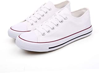 Women's Canvas Low Top Sneakers Lace Up Casual Fashion Shoes